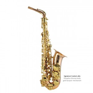 SC Custom alto - Phosphor bronze body with gold lacquer mech copy